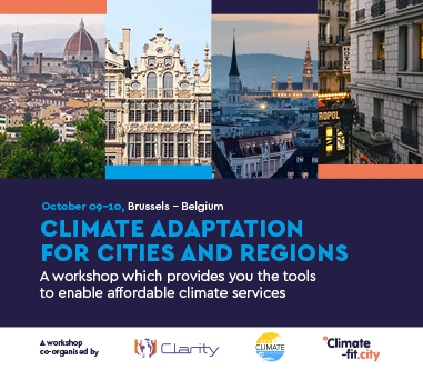 [Workshop] Climate Adaptation for Cities and Regions: tools to enable affordable climate services