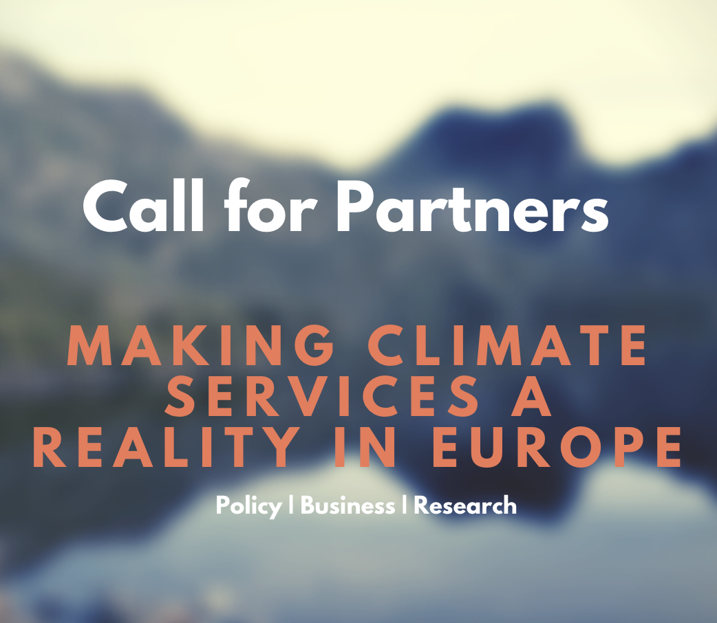 [Call for partnerships] Conference: Making Climate Services a reality in Europe